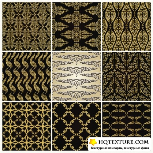 Modern and vintage seamless patterns