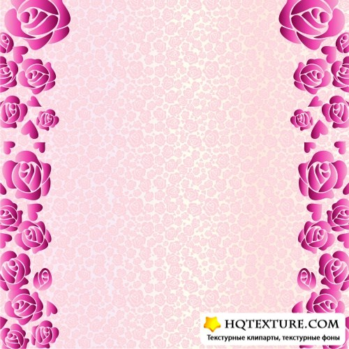Greeting backgrounds with roses