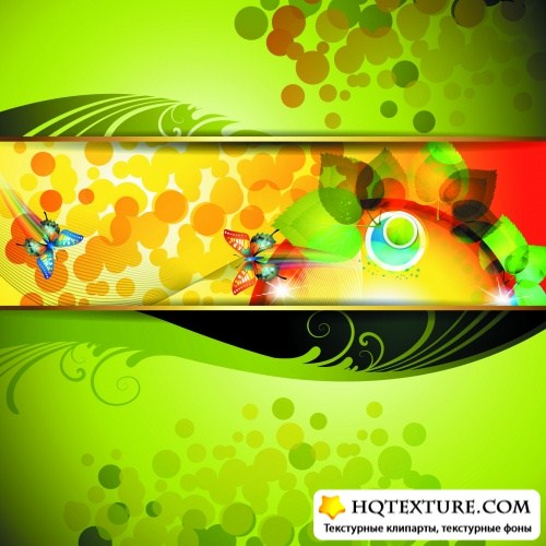 Colorful Natural Backgrounds Vector