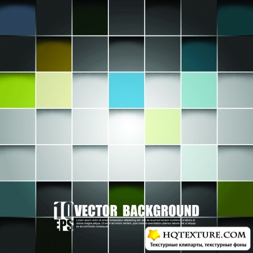 Abstract Backgrounds with Cubes Vector