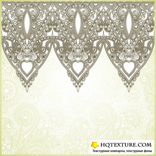 Vintage Floral Backgrounds Vector 6