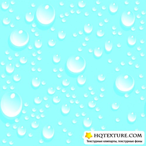 Water Drops, Bubbles, Splashes, Backgrounds Vector Collection