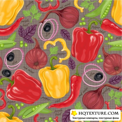 Seamless background from vegetables