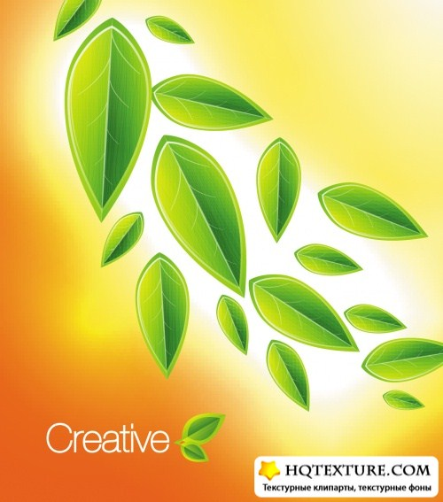 Creative Leaves Backgrounds Vector