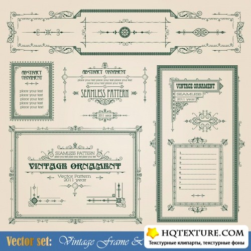 Vintage Frames & Ornaments Vector
