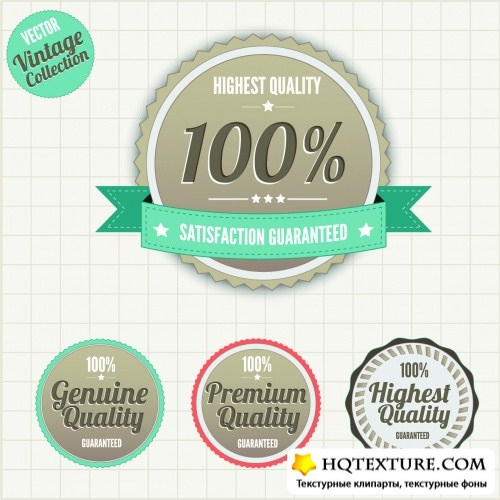 Vintage Style Labels Vector