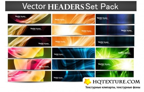 Abstract Web Headers Vector