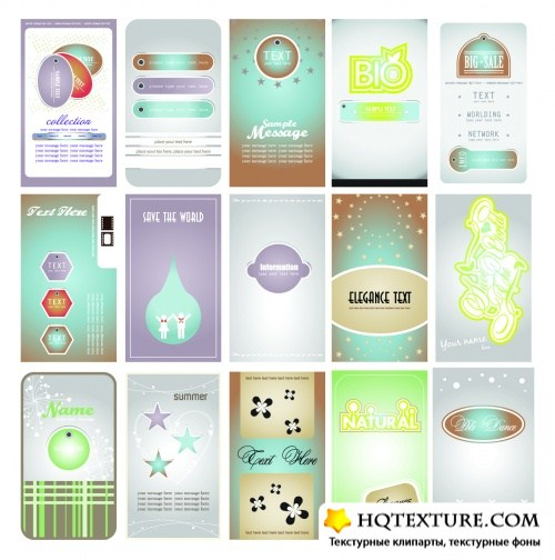 Name Cards Vector