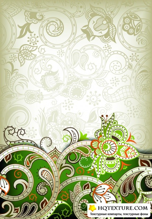 Beautiful Floral Backgrounds Vector