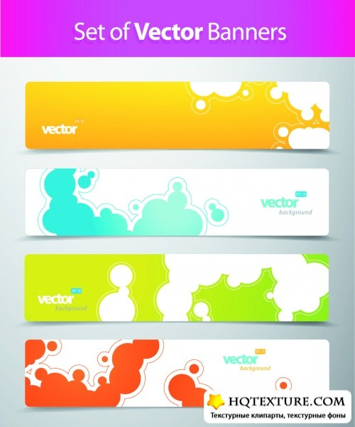 Color Abstract Banners Vector 2