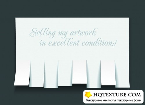 Blank Advertisment with Cut Slips Vector