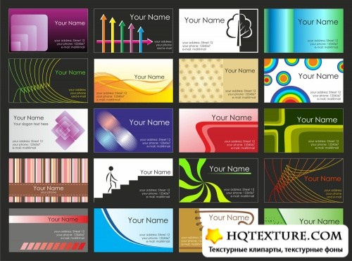 Business cards set 14