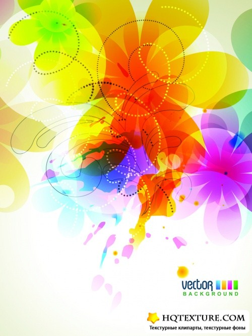 Color Spring Backgrounds Vector
