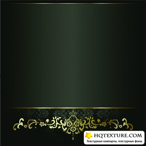 Vintage Golden Frames Vector 4