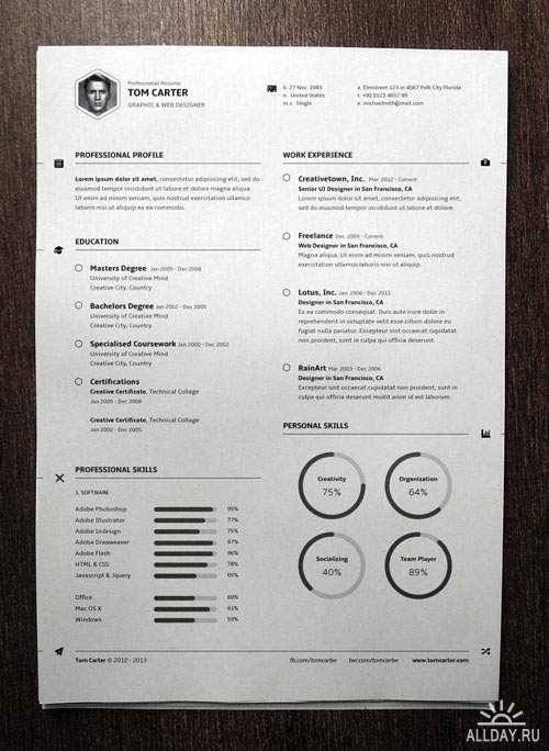 Pixeden - Simple Resume Template vol3