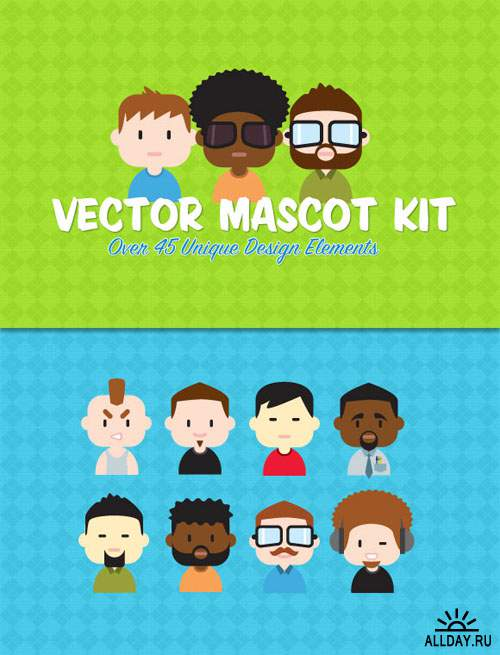 WeGraphics - Vector Mascot Creation Kit