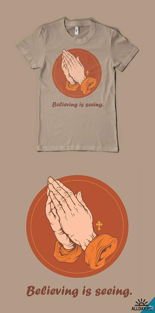 Believing is Seeing Religious T-Shirt Vector Template