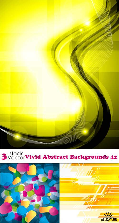 Vectors - Vivid Abstract Backgrounds 42