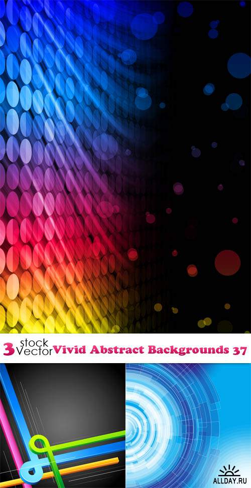 Vectors - Vivid Abstract Backgrounds 37