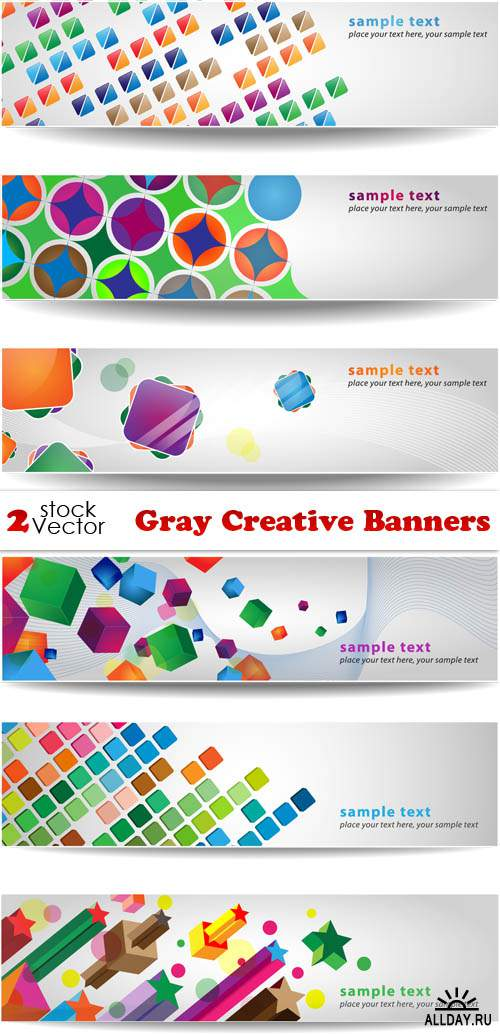 Vectors - Gray Creative Banners