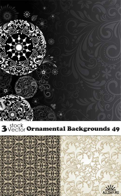 Vectors - Ornamental Backgrounds 49