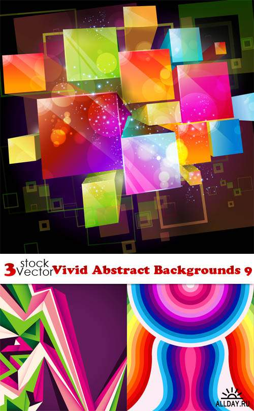 Vectors - Vivid Abstract Backgrounds 9