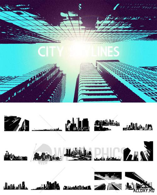 WeGraphics - City Skyline Vector Set