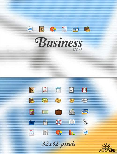 WeGraphics - Business icons pack 32x32