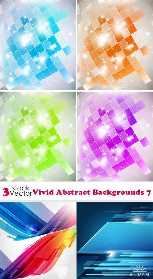 Vectors - Vivid Abstract Backgrounds 7