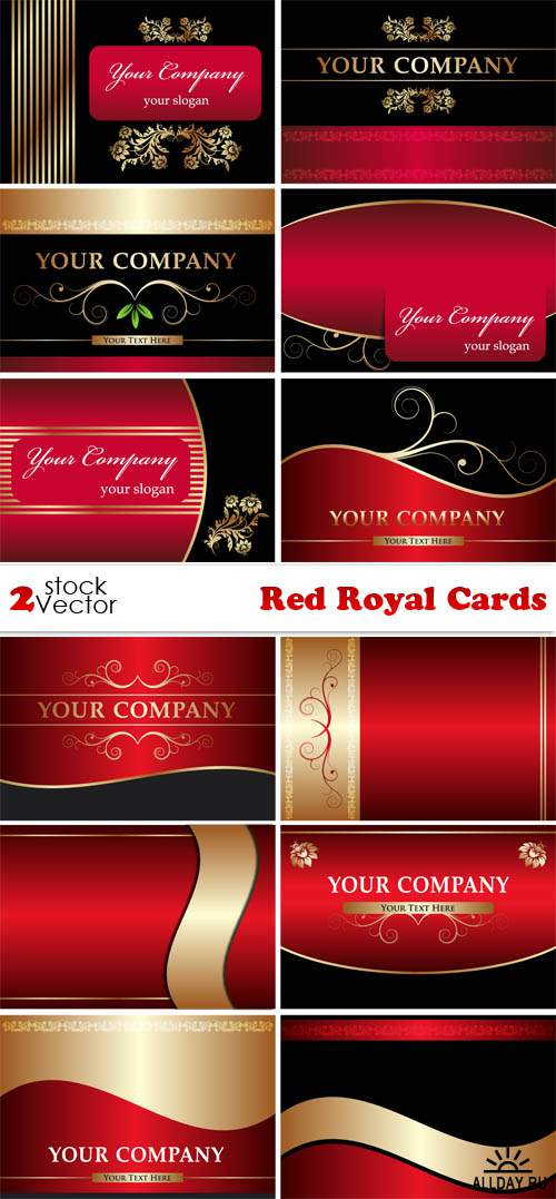 Vectors - Red Royal Cards