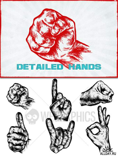 WeGraphics - Detailed hand vectors