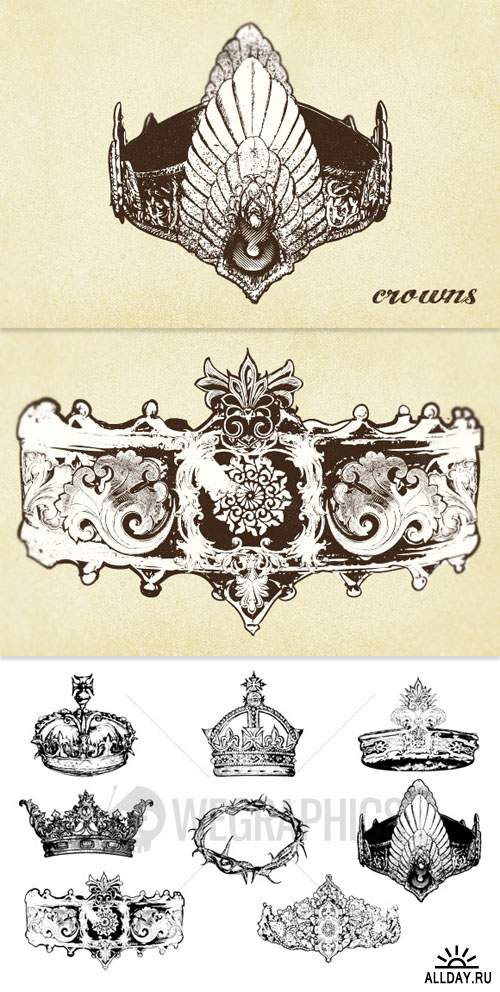 WeGraphics - Crown vector set