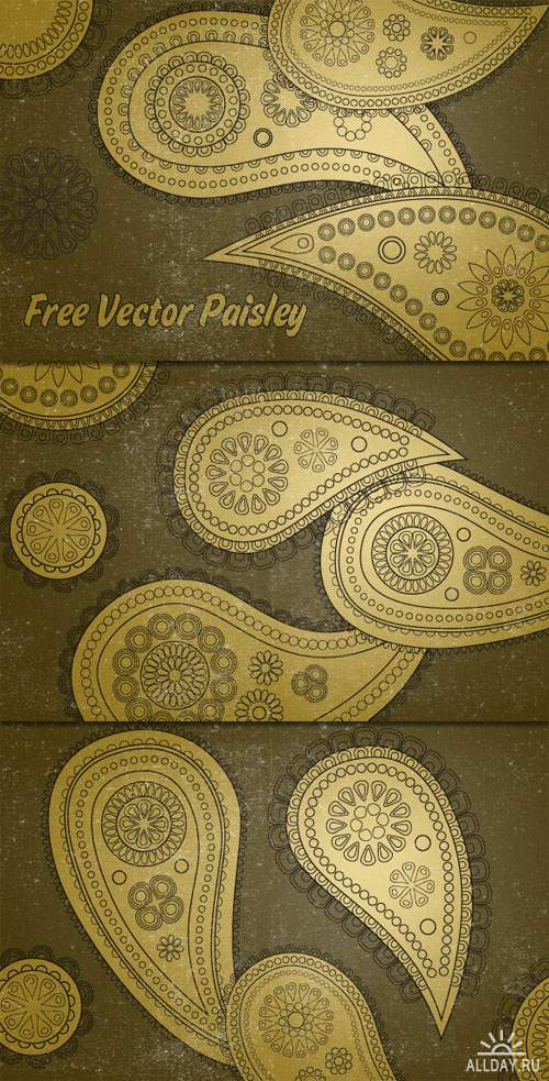 WeGraphics - Vector Paisley Patterns