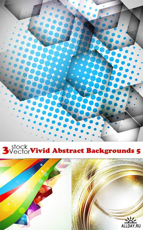 Vectors - Vivid Abstract Backgrounds 5