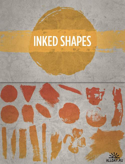 WeGraphics - Inked Shapes Vectors