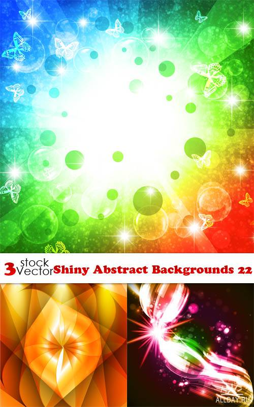 Vectors - Shiny Abstract Backgrounds 22