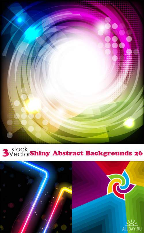Vectors - Shiny Abstract Backgrounds 26
