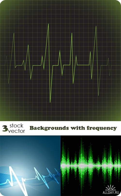 Векторный клипарт - Backgrounds with frequency