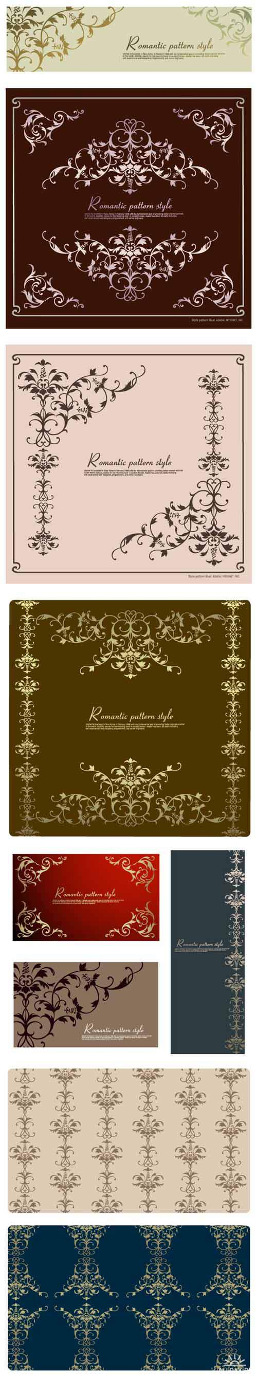 Golden Ornament Romantic Patterns