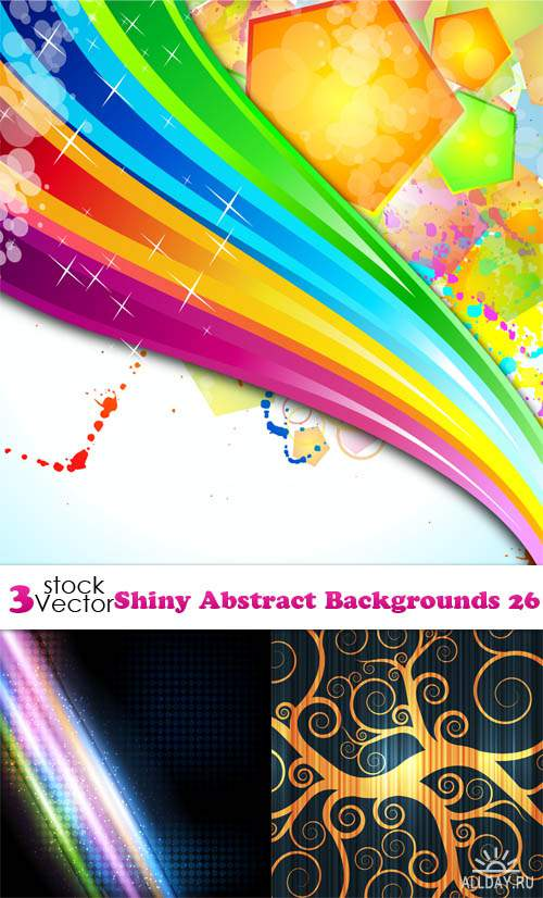 Vectors - Shiny Abstract Backgrounds 27