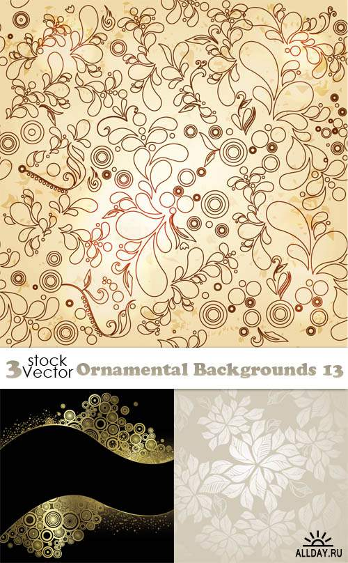 Vectors - Ornamental Backgrounds 13