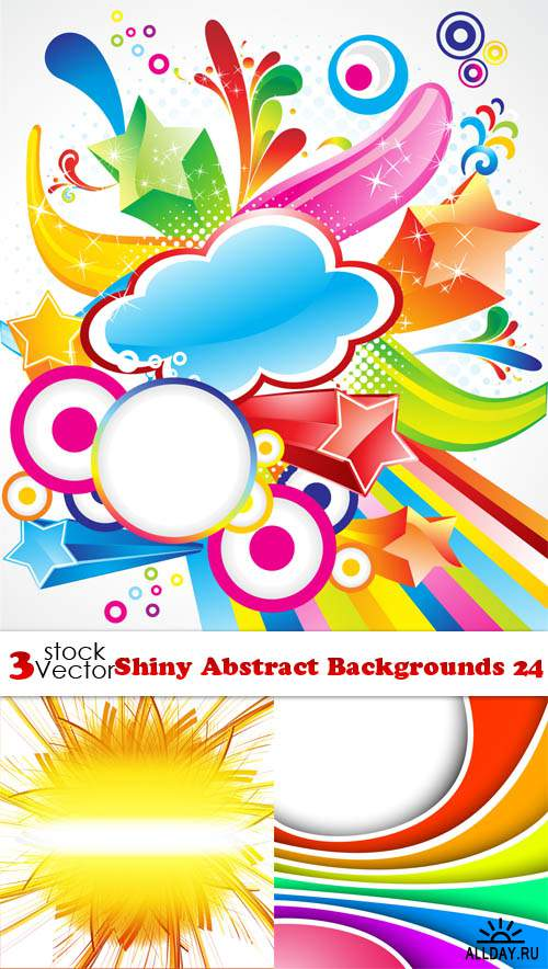 Vectors - Shiny Abstract Backgrounds 24