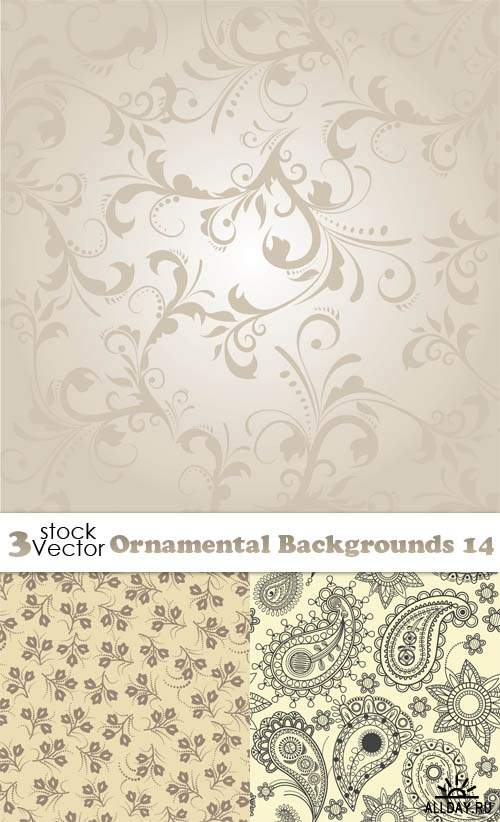 Vectors - Ornamental Backgrounds 14