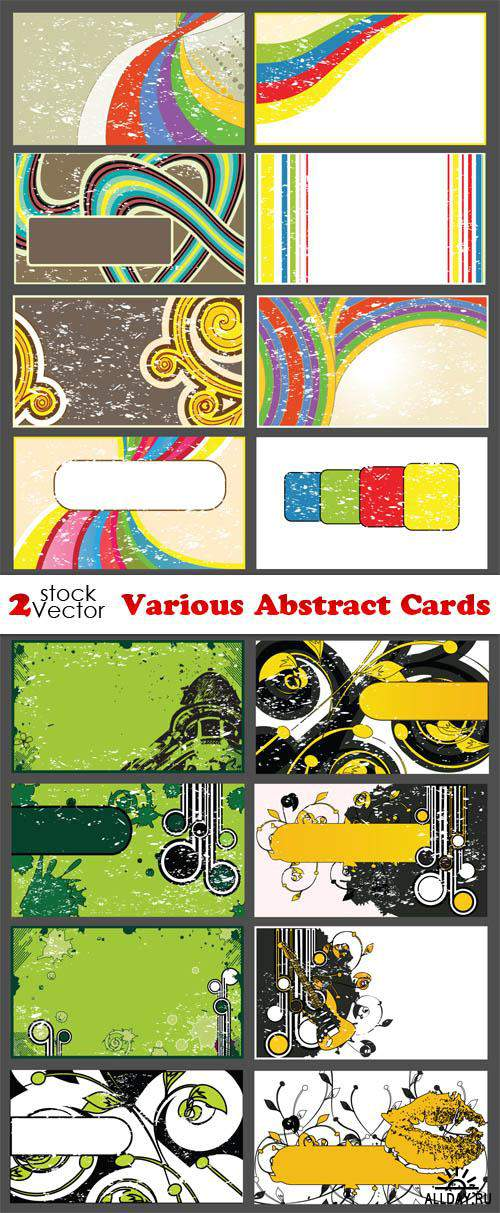 Vectors - Various Abstract Cards