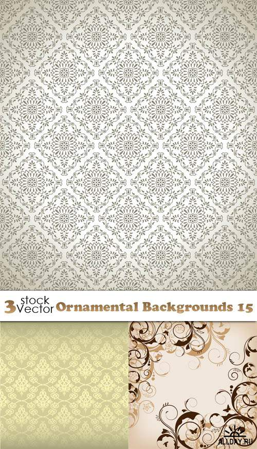 Vectors - Ornamental Backgrounds 15