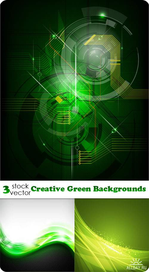��������� ������� - Creative Green Backgrounds