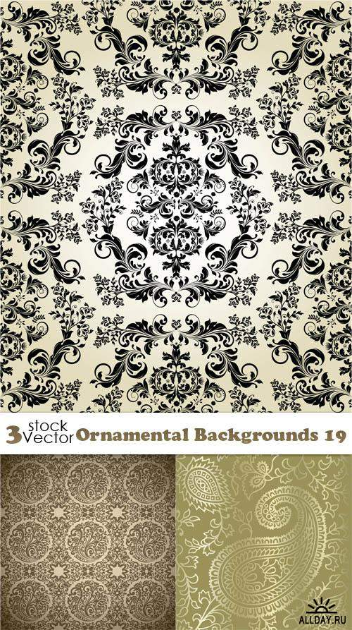 Vectors - Ornamental Backgrounds 19