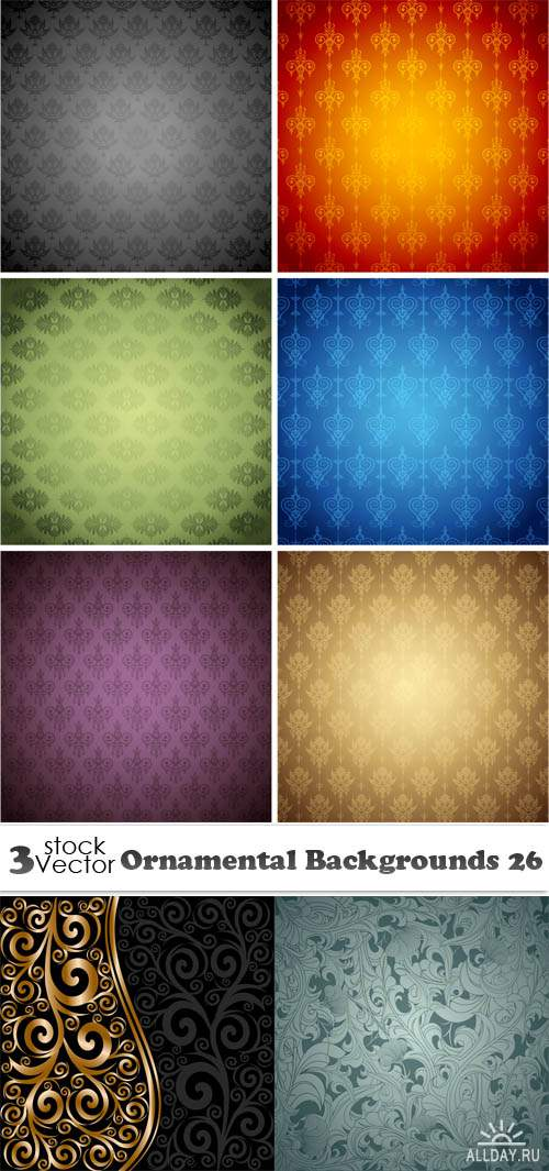 Vectors - Ornamental Backgrounds 26