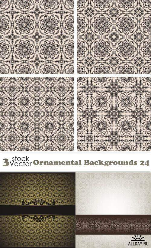 Vectors - Ornamental Backgrounds 24
