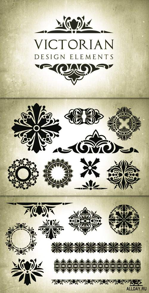 WeGraphics - Victorian Era Vector Design Elements